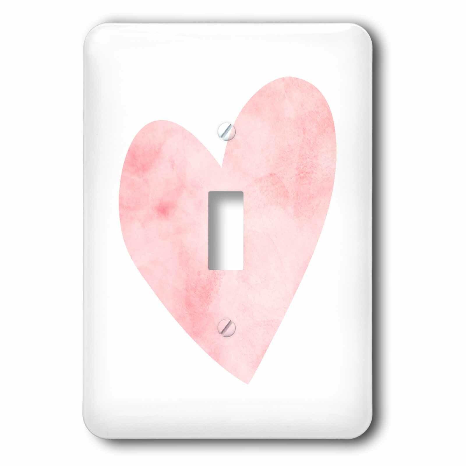 3drose Pretty Blush Water Heart 1 Gang Toggle Light Switch Wall Plate Wayfair