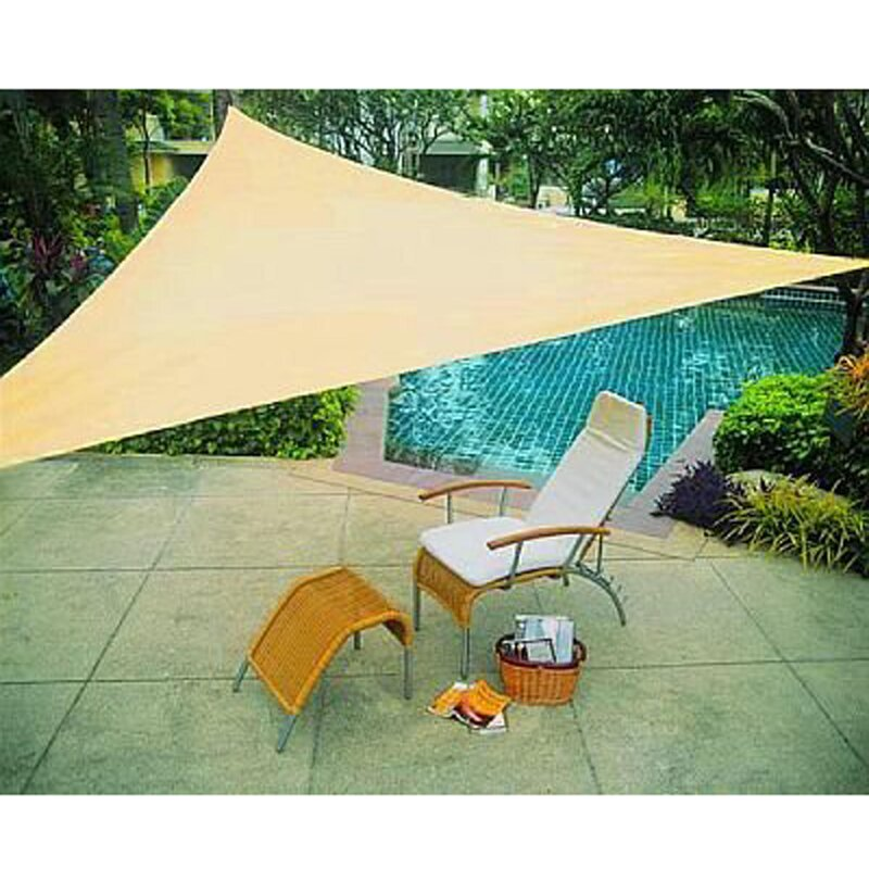 ALEKO 12 Triangle Shade Sail  Color: Sand