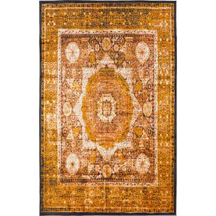 Buy clear Bolton Ivory/Orange Area Rug By World Menagerie