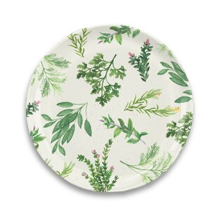 Lodd Herbs Melamine Dinner Plate (Set of 6)