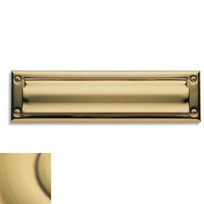 Baldwin 13 in x 3.6 Brass Mail Slot Color: Satin Brass with Brown