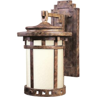 Best Review Cascadera 1-Light Outdoor Wall Lantern By Loon Peak