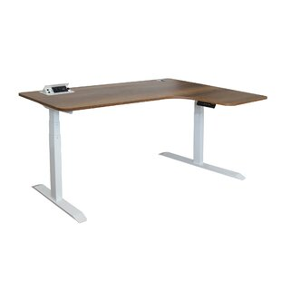 Hervey Bay Adjustable L-Shape Standing Desk by Symple Stuff Modern