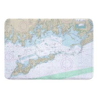 Breakwater Bay Nautical Chart Chesapeake Bay Approaches To Baltimore Harbor Md Rectangle Memory Foam Non Slip Bath Rug Wayfair