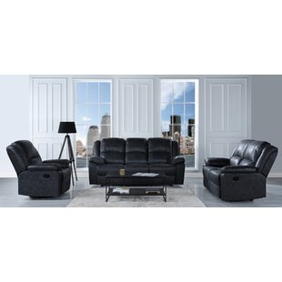 Bramhall Reclining 3 Piece Living Room Set by Winston Porter