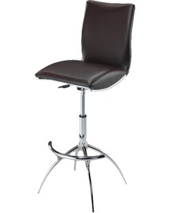 Guttenberg Adjustable Height Swivel Bar Stool (Set of 2) Wade Logan