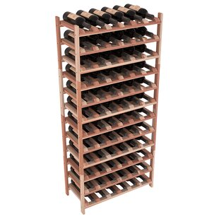 Red Barrel Studio Karnes Redwood Stackable 72 Bottle Floor Wine Rack