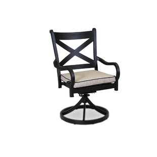Monterey Swivel Patio Dining Chair with Cushion Sunset West