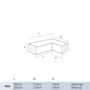Modular Left Hand Patio Sofa Cover By Symple Stuff