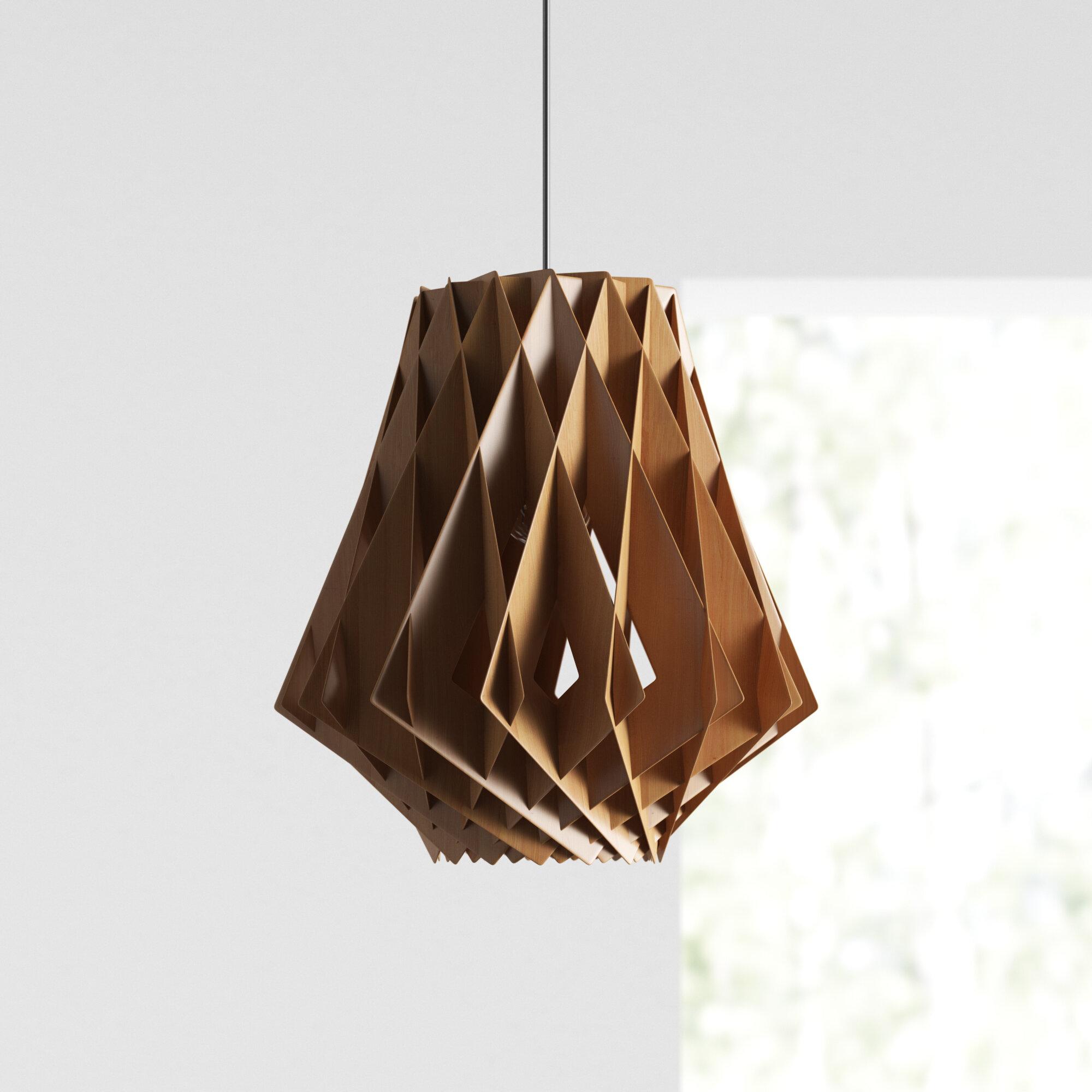Sayer 1 Light Single Geometric Pendant Reviews Allmodern