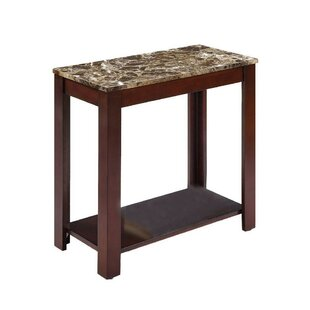 Britten Contemporary Marble Veneer End Table by Ebern Designs