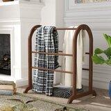 Six-bar Wood Quilt Rack
