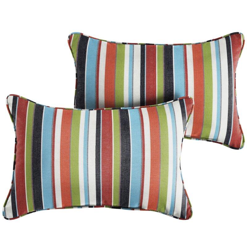 Blue White Stripe Indoor//Outdoor Pillows Set of 2 Corded Sunbrella