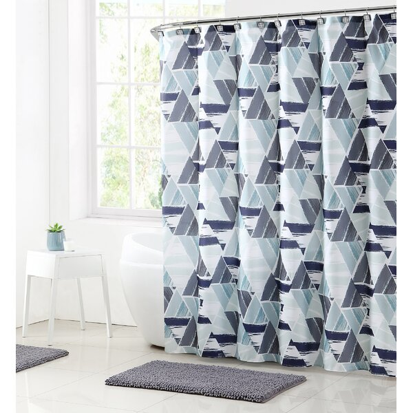 Ivy Bronx Bolinger Modern Mosaic Shower Curtain Set & Reviews | Wayfair