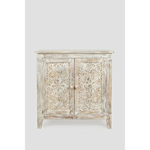 Authement Hand Carved 2 Door Accent Cabinet by Bungalow Rose
