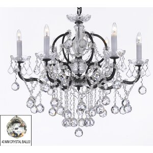 Clemence 6-Light LED Crystal Chandelier
