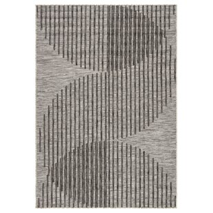 Tangra Jaipur Living Gray/Black Indoor/Outdoor Area Rug
