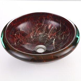 Dawn USA Tempered Glass Circular Vessel Bathroom Sink