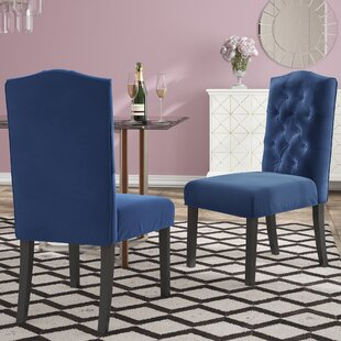 Menard Traditional Upholstered Dining Chair (Set of 2) House of Hampton