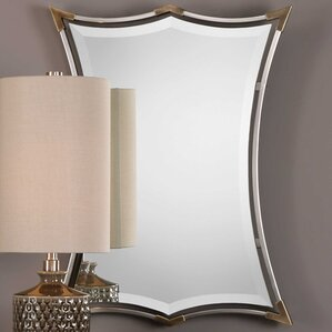 brushed nickel framed accent mirror - Brushed Nickel Mirror