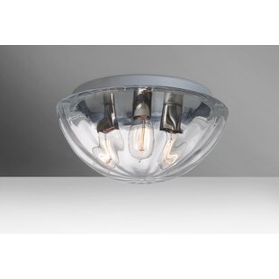 Besa Lighting Pinta 3-Light Outdoor Flush Mount