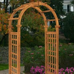 New England Arbors Rosewood Wood Arbor