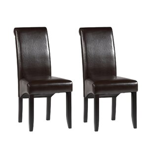 Roll Back Parsons Chair (Set of 2) Chintaly Imports