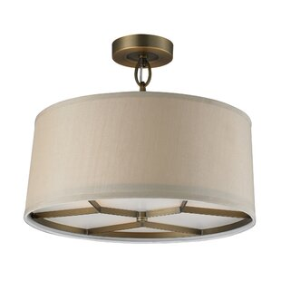 Alcott Hill Jed 3-Light Drum Pendant