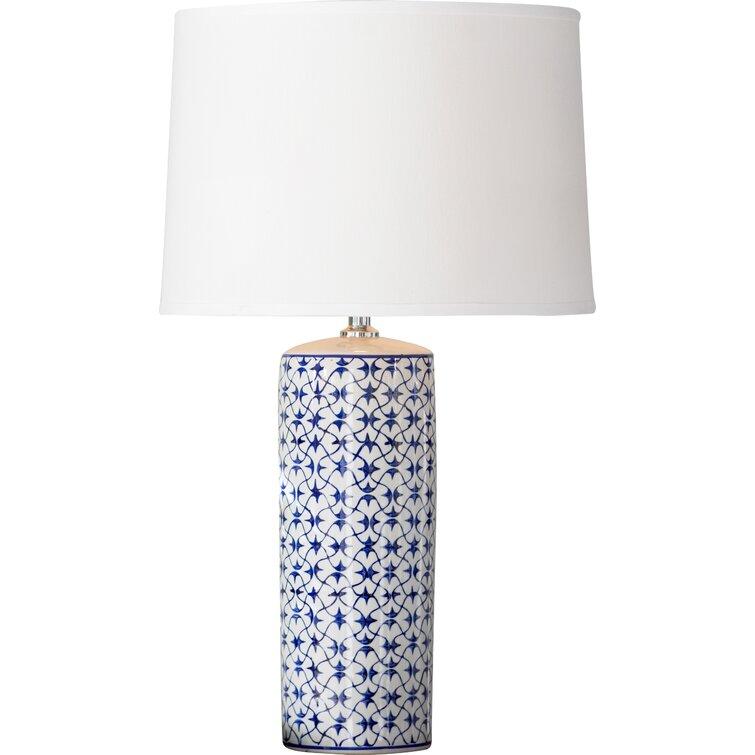 "28.5"" Blue/White Table Lamp"