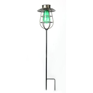 Winsome House Solar Lantern Garden Stake LED Pathway Light