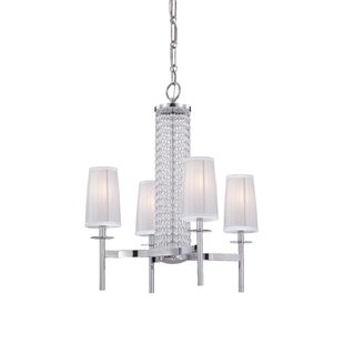 Designers Fountain Candence 4-Light Shaded Chandelier