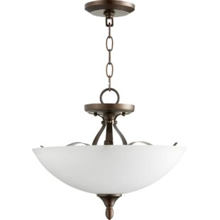 Fleur De Lis Living Brookview 3-Light Bowl Pendant