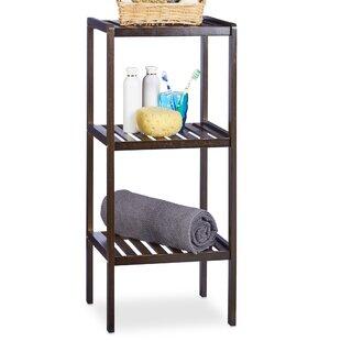 Bamboo Free-Standing 34.50 x 80cm Bathroom Shelf by Relaxdays