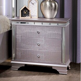 Copper 3 Drawer Nightstand by Rosdorf Park