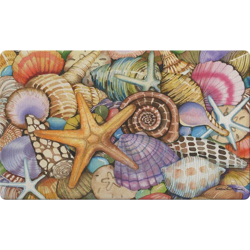 Toland Home Garden Shells Of The Sea 30 In X 18 In Non Slip Outdoor Door Mat Wayfair