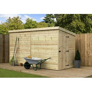 Kays 4 Ft. W X 12 Ft. D Shiplap Pent Wooden Shed By Sol 72 Outdoor