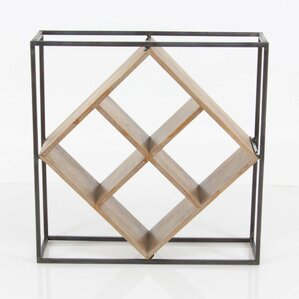 Brandie Rhombus Shaped Metallic Wood 4 Bo..