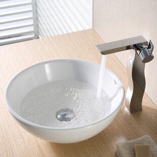 Ceramic Ceramic Circular Vessel Bathroom Sink Kraus
