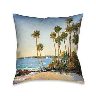 Pierview Distant Shore Throw Pillow