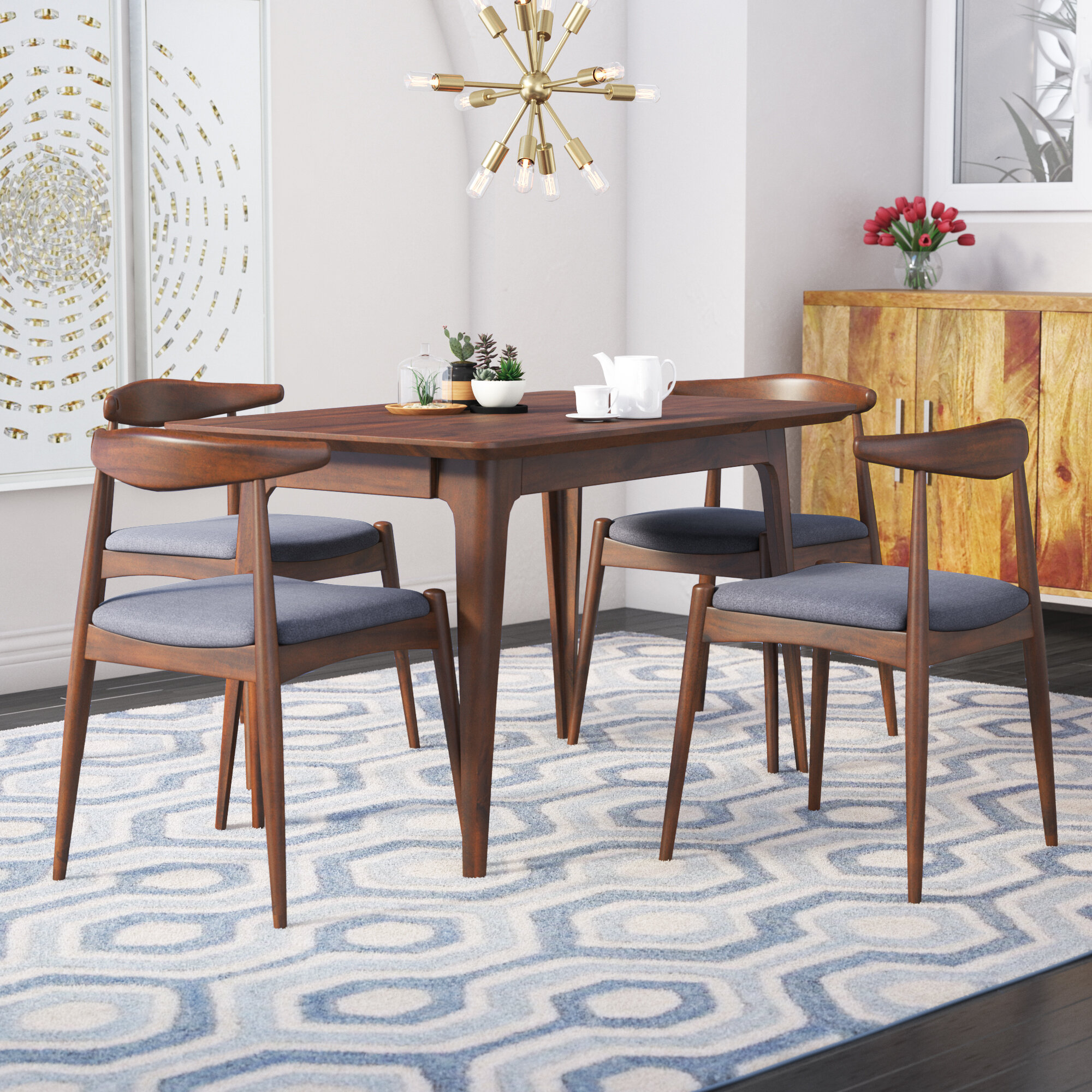 Tremendous Millie 5 Piece Mid Century Dining Set Camellatalisay Diy Chair Ideas Camellatalisaycom