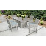 Claire 7 Piece Dining Set with Cushions
