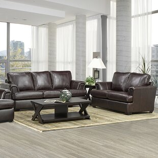Loon Peak Verano Leather 2 Piece Living Room Set
