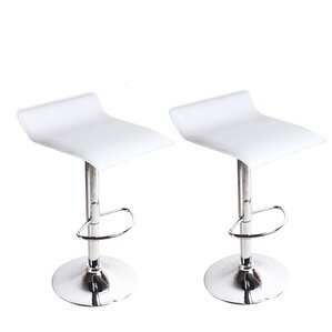 Decker Adjustable Height Swivel Bar Stool (Set of 2) by Wade Logan