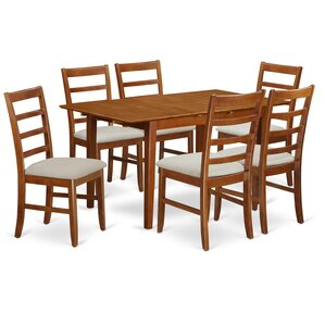 Picasso 7 Piece Dining Set by East West Furniture