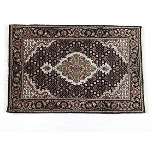 Compare prices One-of-a-Kind Rayne Fish Tabriz Hand-Knotted 2'7 x 10'1 Silk/Wool Black/Ivory/Brown Area Rug By Isabelline