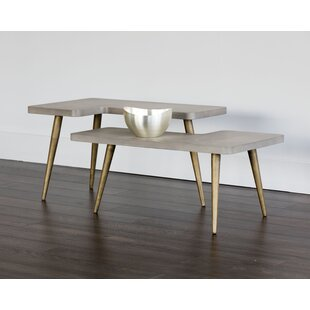 Sunpan Modern Solterra Loupe 2 Piece Coffee Table Set