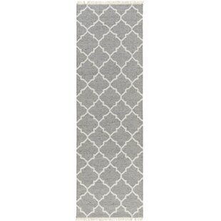Great choice Palladio Hand-Woven Gray/White Area Rug ByDarby Home Co