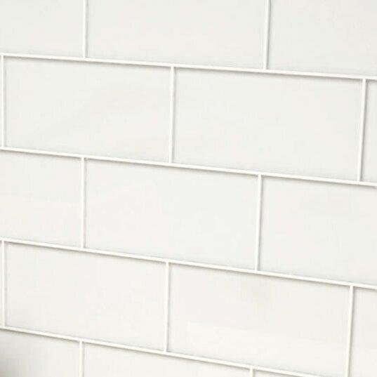 Giorbello 3 X 6 Gl Subway Tile In Bright White Reviews
