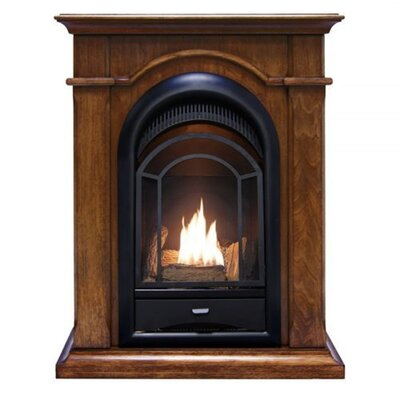 Heating Vent Free Propane/Natural Gas Fireplace ProCom Finish: Walnut