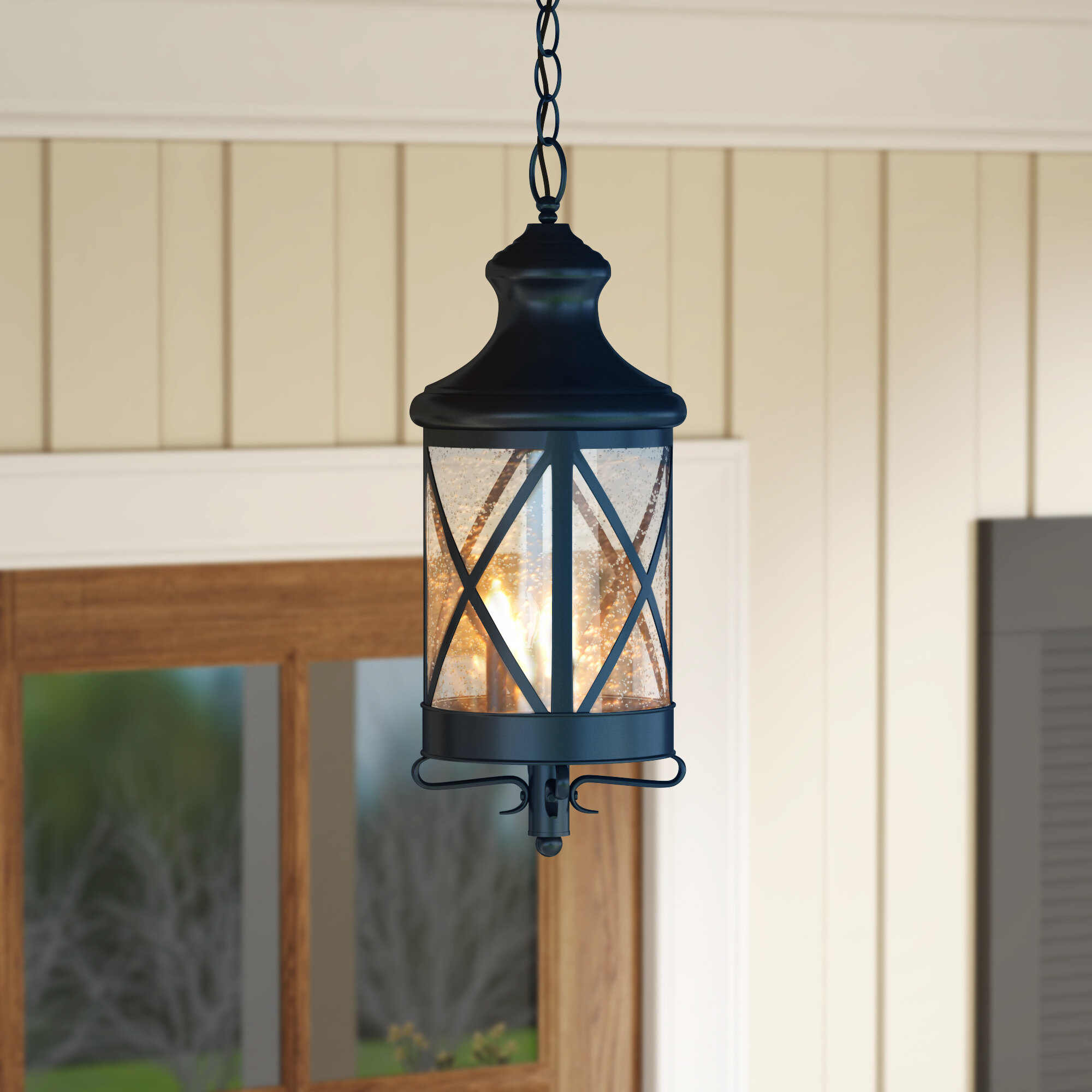 Gracie Oaks Luqi 3 Light Outdoor Hanging Lantern Reviews